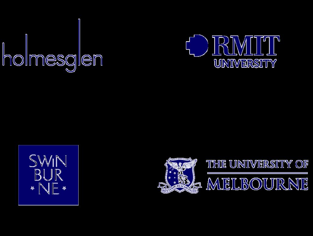 Logos of organisations we work with Homesglen RMIT University Swinburne and University of Melbourne | Communication Consultants | Studio Alto