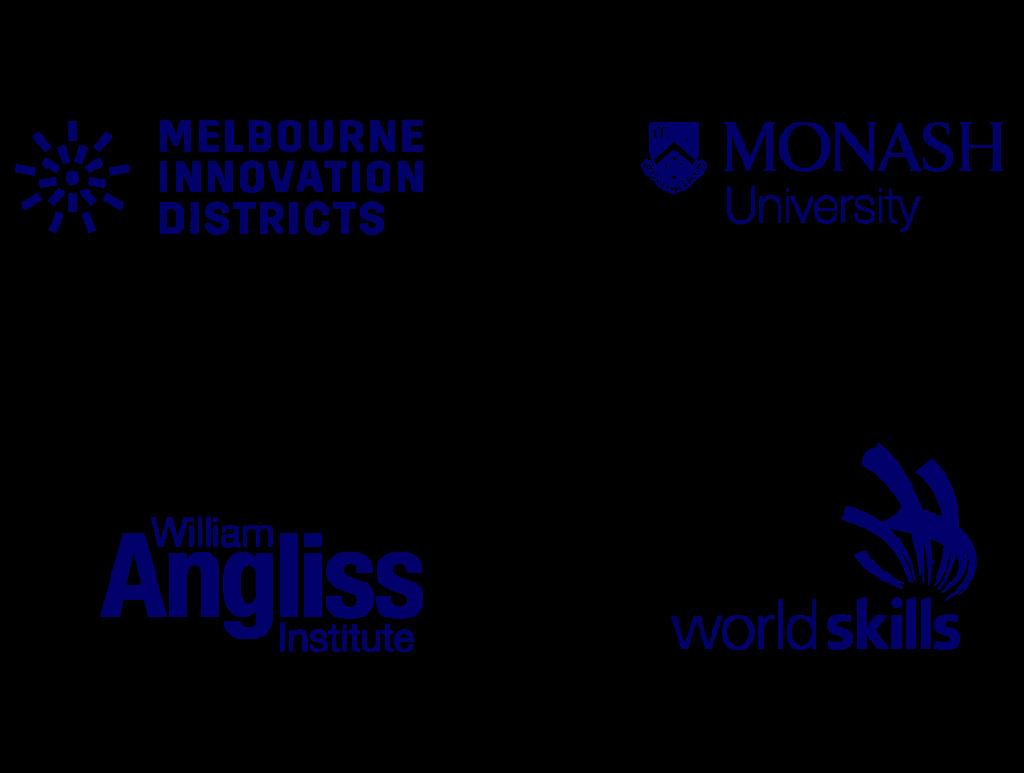 Logos of organisations we work with MID RMIT University Monash University William Angliss Institute and WorldSkills | Communication Consultants | Studio Alto