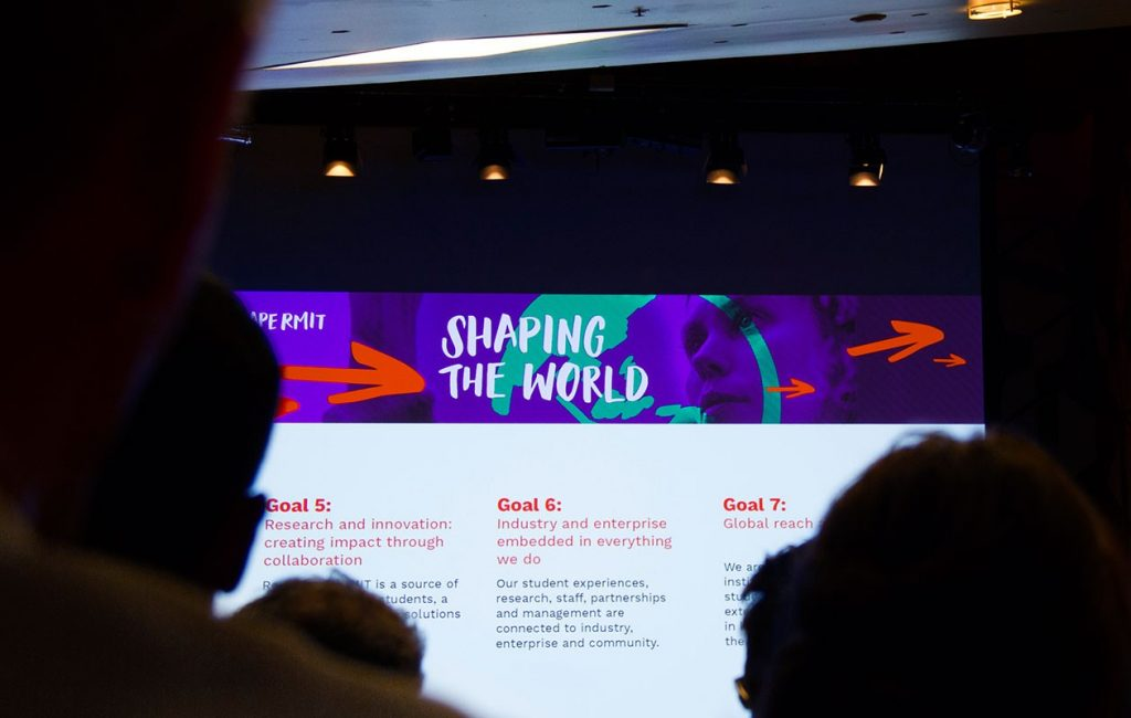 ShapeRMIT launch presentation screen
