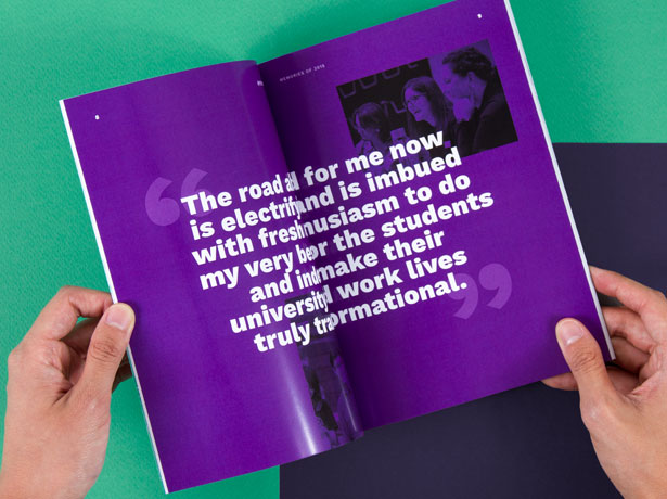My RMIT Year booklet inside spread feature quote