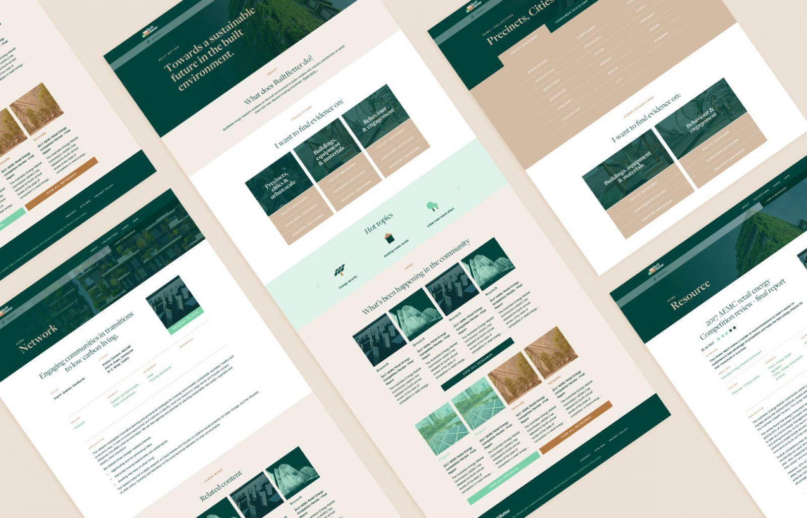 BuiltBetter website lower pages design