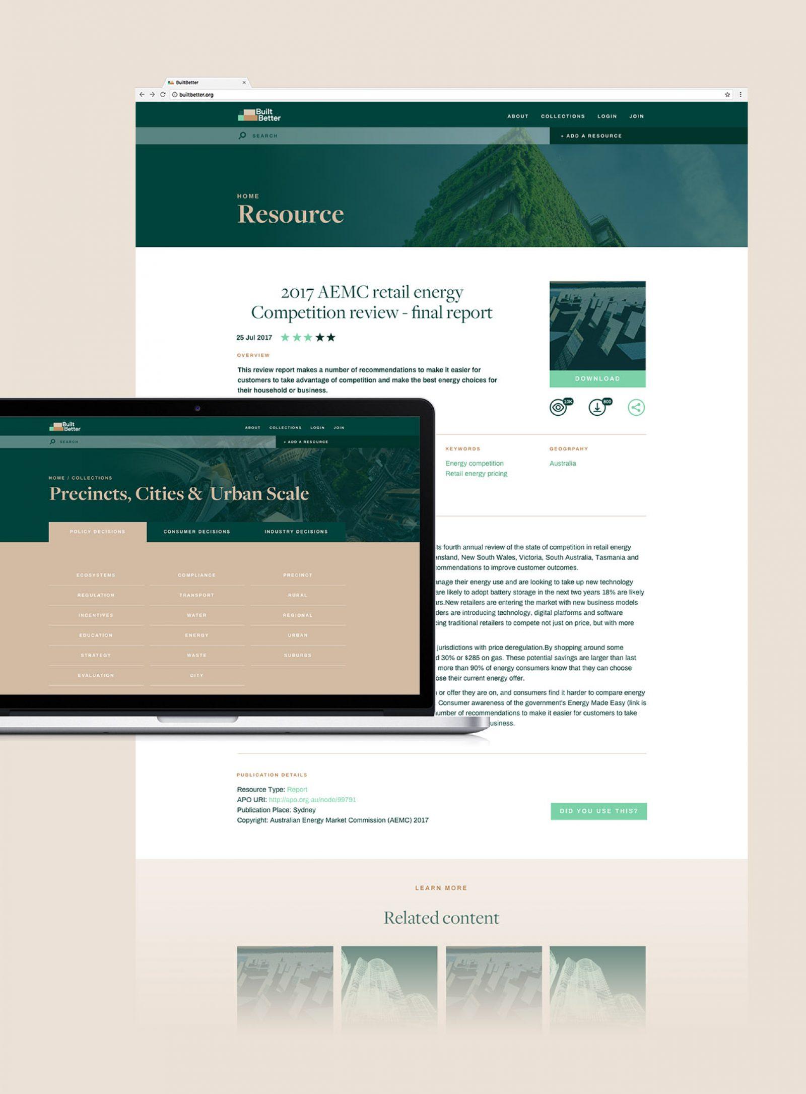 BuiltBetter website screens