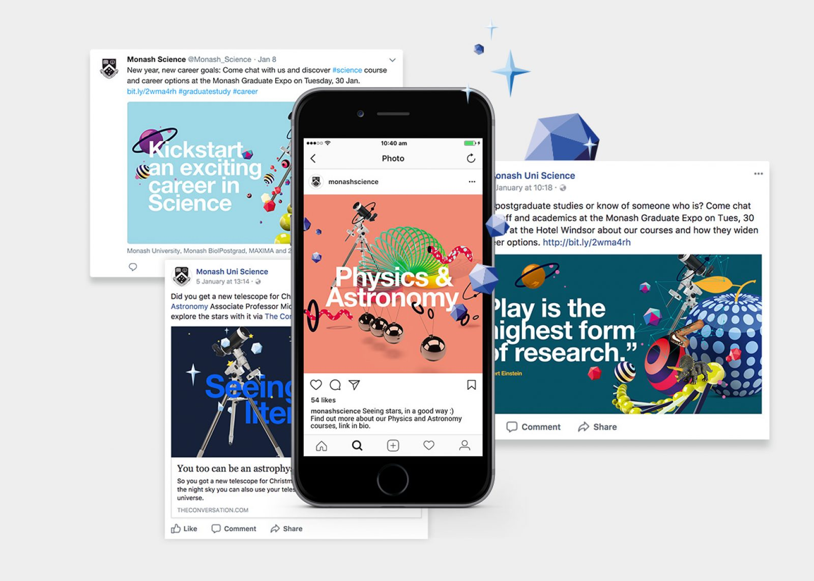 Monash Science Careers Guide - social media marketing assets